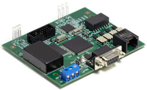 Printed Circuit Board with Chips and Components