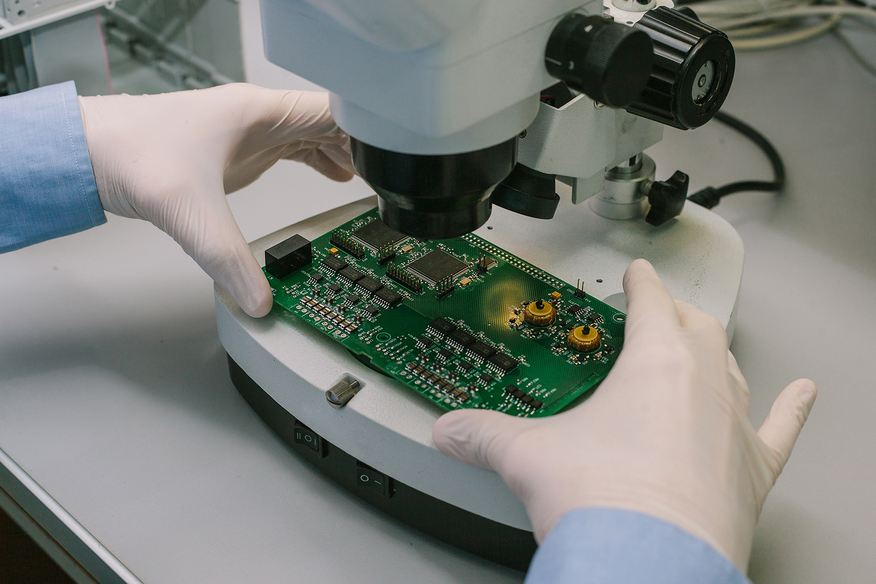 Prototype PCB Assembly - microchip viewing-PCB